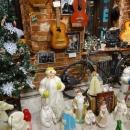 Новогодняя игрушка 40-90 годов, коллекция дед морозов в музее социалистического быта в Казани.