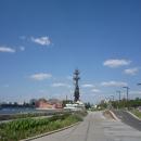 Прогулка по Крымской набережной в Москве. Памятник Петру I в Москве.