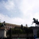 Садовые ворота с конными статуями с Аничкова моста из Санкт-Петербурга