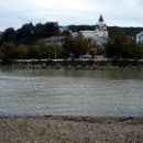 Поселок Новомихайловский. Вид на реку Нечепсухо и церковь.