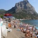 Пляж курорта Новый Свет