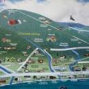 Схема курорта Гагра. Абхазия.