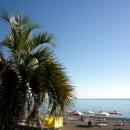 Пляж в Гагре. Абхазия.