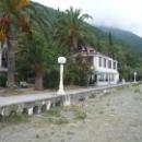 Вид на колоннаду с пляжа Гагры. Абхазия.