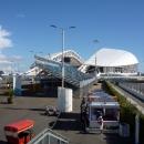 Вид на стадион Фишт. Олимпийский парк Сочи.