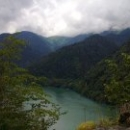 Горное озеро Рица в Абхазии.