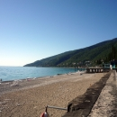 Пляж санатория Амра. Гагра.