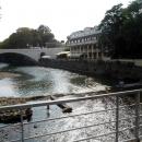 Вид на реку Сочи и отель.