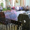 Петропавловской собор в Санкт-Петербурге. Саркофаг Александра II из зелёной яшмы и саркофаг императрицы Марии Александровны из розового орлеца.