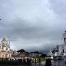 Достопримечательности на площади Венеции в Риме.