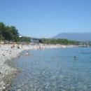 Набережная курорта Пицунда. Абхазия.