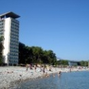 Центральный пляж курорта Пицунда. Абхазия.