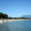 Пляж курорты Пицунда у корпуса Бзыбь.