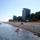 Отдых на центральном пляже Пицунда.