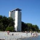 Пляж курорта Пицунда. Абхазия.