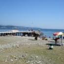 Причал на центральном пляже курорта Пицунда. Абхазия.