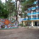 Мозаика у корпуса «Золотое Руно». Курорт Пицунда. Абхазия.