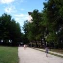 У корпуса «Амра» на «Курорте Пицунда» в Абхазии.