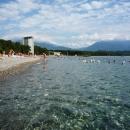 На пляже «Курорта Пицунда». Абхазия.