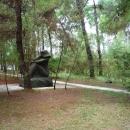 Скульптура «Купальщица». Курорт Пицунда. Абхазия.