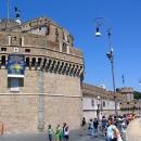Замок-крепость Святого Ангела в Риме. Италия.