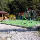 Детская площадка на турбазе «Приморская» в п. Новомихайловский.