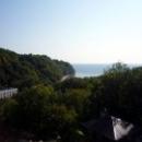 Вид с турбазы «Приморская» на лесной массив и Черное море.