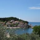 Голубая лагуна курорта Пржно. Отдых в Черногории.