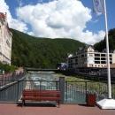 Вид с Романова моста на Роза Хутор.