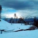 Подъёмники Красной поляны зимой.