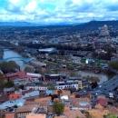 Вид на Тбилиси с горы Мтацминда. Грузия