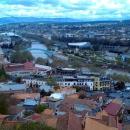 Город Тбилиси у подножья крепости Нарикала. Грузия.