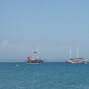 Отдых на курортах Средиземного моря в Турции.