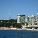 Пляжи у центральной набережной Сочи.