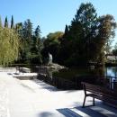 Композиция у пруда в Нижнем парке Дендрария. Сочи.