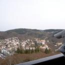 Вид со смотровой площадки на Карловы Вары. Чехия.