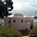 Вид на город Тунис с высоты холма курорта Сиди-Бу-Саид.