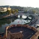 Вид на Рим со смотровой площадки Замка Святого Ангела.