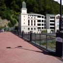 Пешков мост на курорте Роза Хутор (Роза Долина).