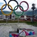 Горная Олимпийская деревня курорта Роза Хутор.