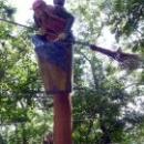 Деревянная скульптура в Сафари-парке в Геленджике.