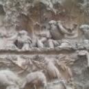 Скульптуры на фасаде Рождества Sagrada Familia, Барселона.