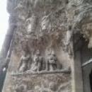 Детали фасада Рождества собора Святого Семейства, Барселона.