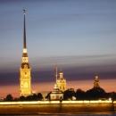 Вид на Петропавловскую крепость. Вечерний Санкт-Петербург.