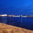 Развод мостов в Санкт-Петербурге. Разведенный Биржевой мост в Санкт-Петербурге.