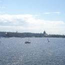 Вид на Дворцовую набережную с Заячьего острова. Санкт-Петербург.