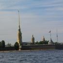 Петропавловская крепость на Заячьем острове в Санкт-Петербурге.