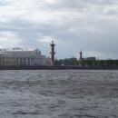 Вид на Стрелку Васильевского острова. Санкт-Петербург.