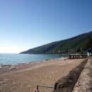Пляж санатория Амра. Гагра. Абхазия.