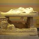 Мраморный саркофаг из древнего города Мирмекия (Керчь. Крым) в Эрмитаже.